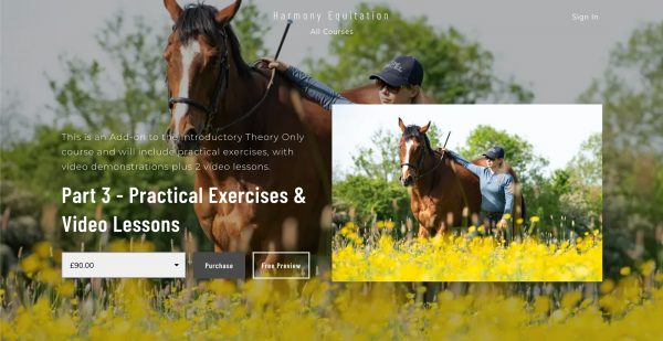 Harmony Equitation - Part 3: Practical Exercises & Video Lessons